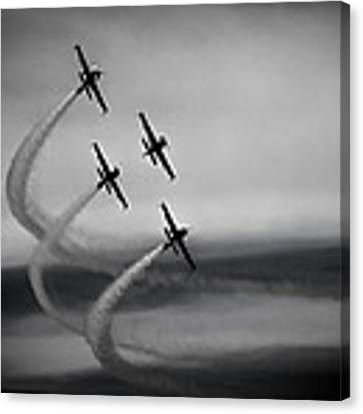 The Blades In Formation Sunderland Air Show 2014 Canvas Print by Scott Lyons
