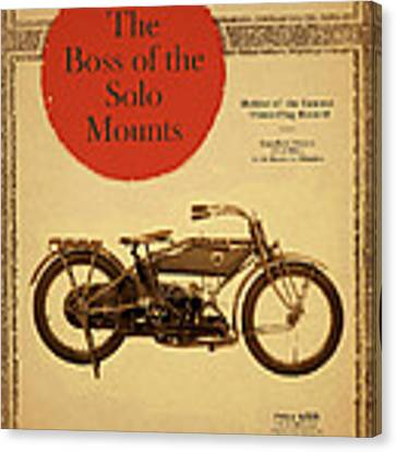 The Boss Of The Solo Mounts Canvas Print by Mark Rogan
