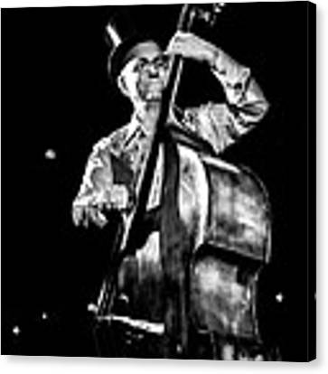 The Old Contrabass Player Canvas Print by Stwayne Keubrick