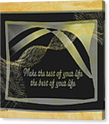 The Rest Of Your Life Canvas Print by Dee Flouton
