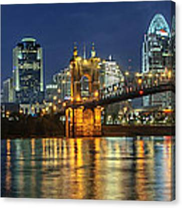 The Sparkle Of The Queen City Canvas Print by At Lands End Photography