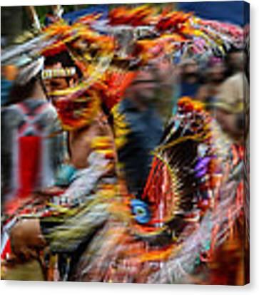 Their Spirit Is Among Us - Nanticoke Powwow Delaware Canvas Print by Kim Bemis