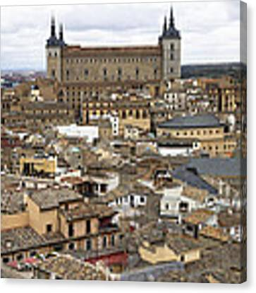 Toledo Spain Cityscape Canvas Print by Nathan Rupert