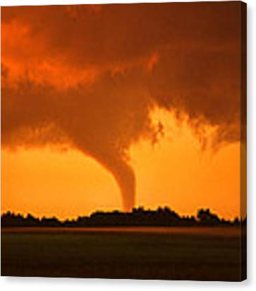 Tornado Sunset Canvas Print by Jason Politte