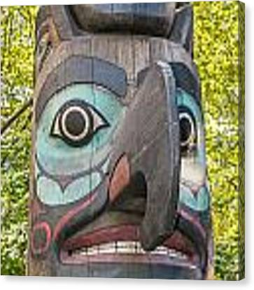 Totem Pole In Seattle  Canvas Print by Bryan Mullennix