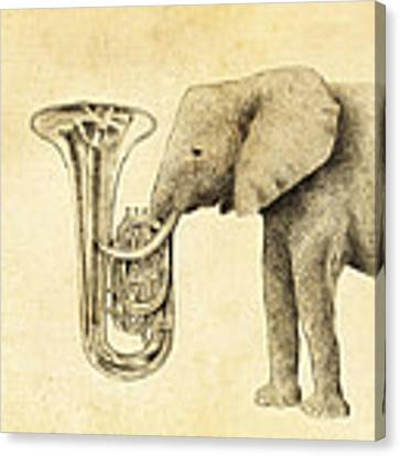 Tuba Canvas Print by Eric Fan