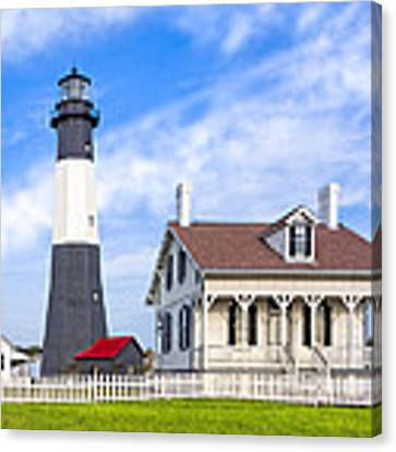 Tybee Island Lighthouse At Dawn Canvas Print by Mark E Tisdale