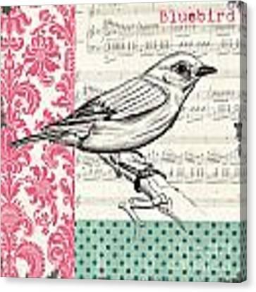 Vintage Songbird 1 Canvas Print by Debbie DeWitt