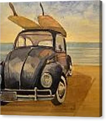 Volkswagen Beetle Canvas Print by Juan  Bosco