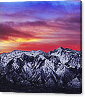 Wasatch Sunrise 2x1 Canvas Print