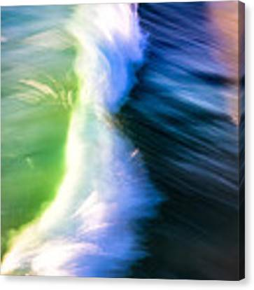 Wave Abstract Triptych 2 Canvas Print by Brad Brizek