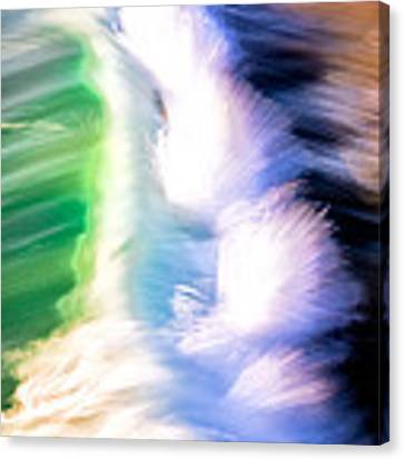 Wave Abstract Triptych 3 Canvas Print by Brad Brizek