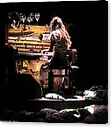 Weird Live Piano Canvas Print by Stwayne Keubrick