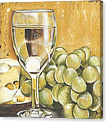 White Wine And Cheese Canvas Print