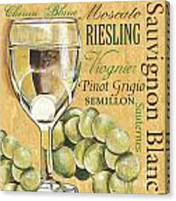 White Wine Text Canvas Print