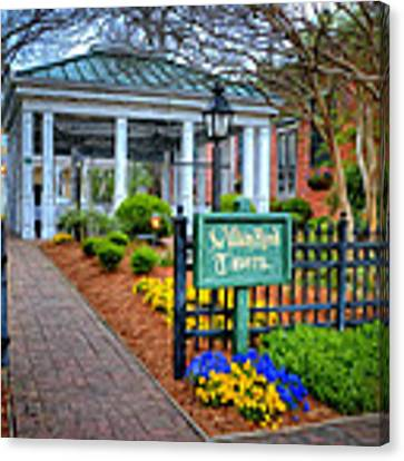 William Rand Tavern At Smithfield Inn Canvas Print by Williams-Cairns Photography LLC