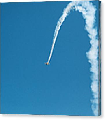 Aerobatic Biplane Downline Canvas Print by Kim Fearheiley