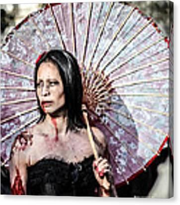 An Asian Zombie Canvas Print by Stwayne Keubrick