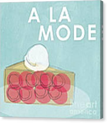 Cherry Pie A La Mode Canvas Print