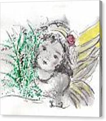 Christmas Angel Canvas Print by Laurie Lundquist