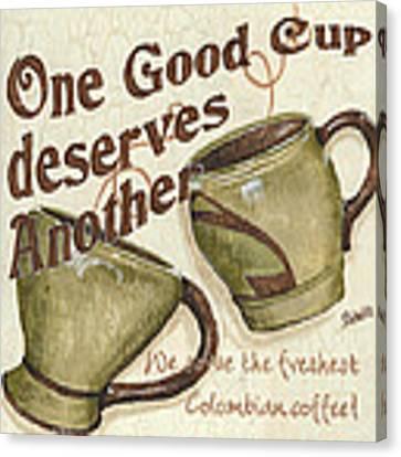 Cream Coffee 2 Canvas Print by Debbie DeWitt