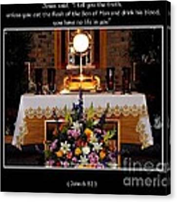 Eucharist Unless You Eat The Flesh Canvas Print by Rose Santuci-Sofranko