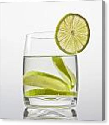 Glass With Lemonade Canvas Print