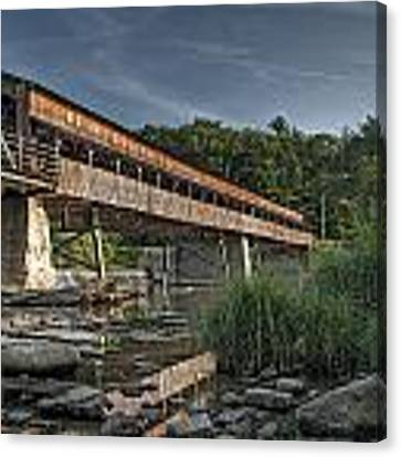 Harpersfield Road Bridge Canvas Print by At Lands End Photography