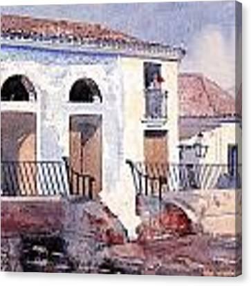 House In Santiago Canvas Print