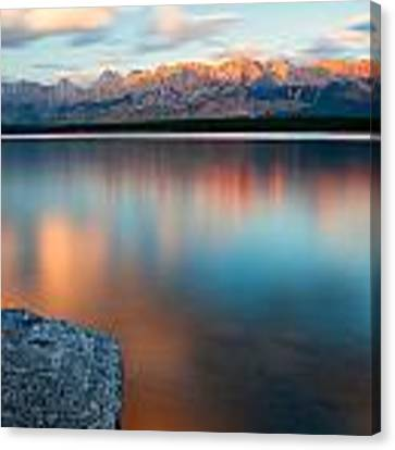Lake Evening 1 Canvas Print by David Buhler