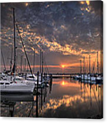 Marina At Fort Monroe Canvas Print by Williams-Cairns Photography LLC
