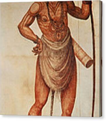 Native American Man C1590 Canvas Print