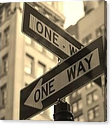One Way, Manhattan Canvas Print by Photo by Yohsuke Ikebuchi