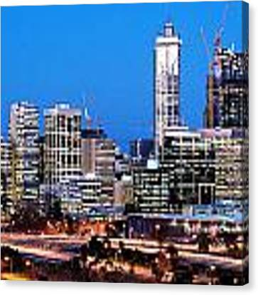Perth City Night View From Kings Park Canvas Print by Yew Kwang