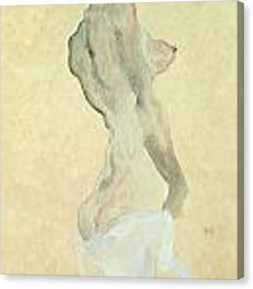 Standing Female Nude Canvas Print