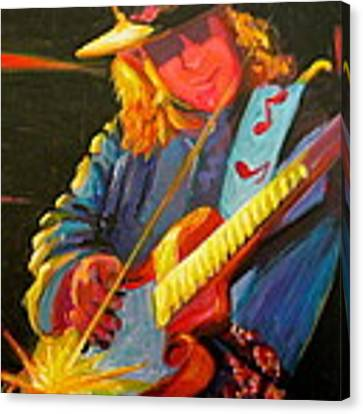 Stevie Ray Vaughn Canvas Print by Jeanette Jarmon