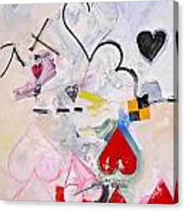 Ten Of Hearts 1-52 Canvas Print by Cliff Spohn