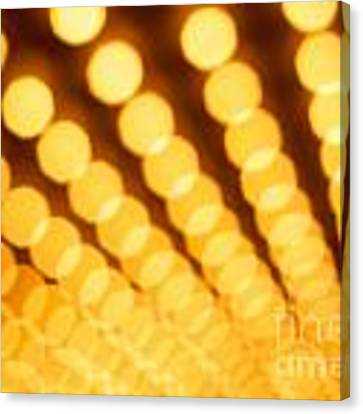 Theater Lights In Rows Defocused Canvas Print