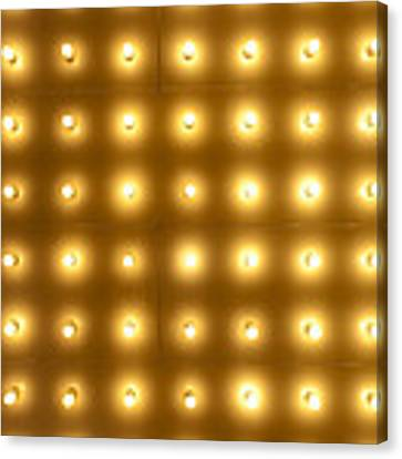 Theater Lights In Rows Canvas Print