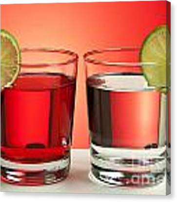 Two Red Drinks Canvas Print