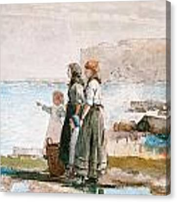 Waiting For The Return Of The Fishing Fleets Canvas Print