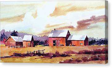 Vermillion View Canvas Print by Art Scholz