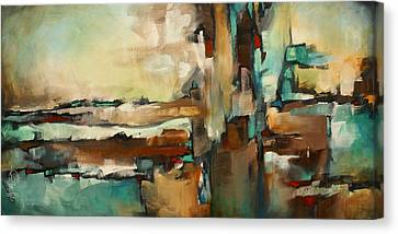 Earth Tones Canvas Print -  ' The Border ' by Michael Lang