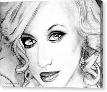 # 2 Christina Aguilera Portrait  Canvas Print