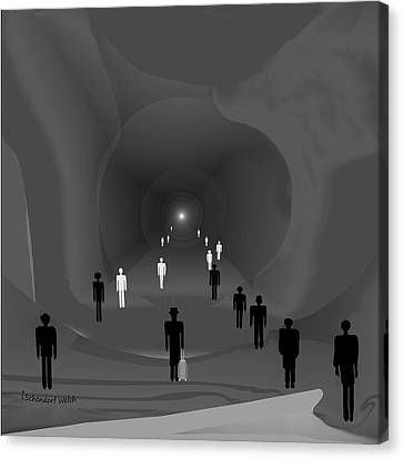 249 - The Light At The End Of The Tunnel   Canvas Print by Irmgard Schoendorf Welch
