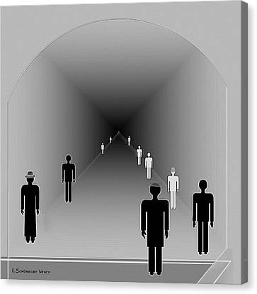 251 - Is There Hope  At The End Of The Tunnel    Canvas Print by Irmgard Schoendorf Welch