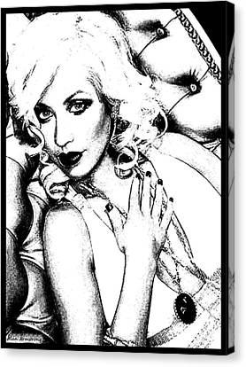# 4 Christina Aguilera Portrait Canvas Print
