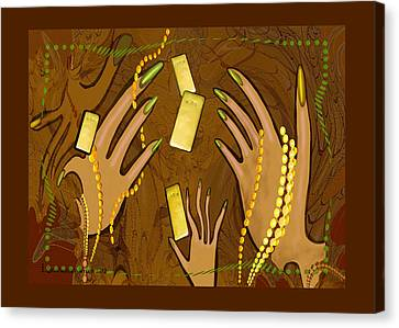 548 - Gold Fingers .... Canvas Print by Irmgard Schoendorf Welch