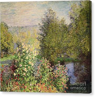 A Corner Of The Garden At Montgeron Canvas Print by Celestial Images