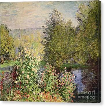 A Corner Of The Garden At Montgeron Canvas Print